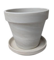 """3 - 4"""" Granite Clay Pots with Saucers - Great for Plants and Crafts"""