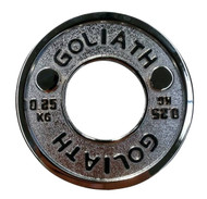 Goliath Calibrated Powerlifting Plate - 0.25kg (PAIR)