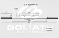 PRESALE Goliath 27.5kg Squat bar - 35mm - black zinc PRESALE