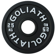 PRESALE - SEPTEMBER - Goliath Calibrated Powerlifting Plate - 2.5kg (PAIR)