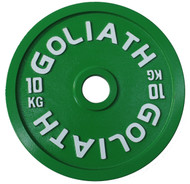 PRESALE - SEPTEMBER - Goliath Calibrated Powerlifting Plate - 10kg (PAIR)