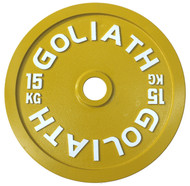 PRESALE - JULY - Goliath Calibrated Powerlifting Plate - 15kg (PAIR)