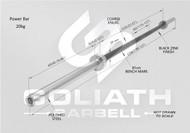 Goliath Power Bar - Black Zinc / Black sleeves - 20kg  - PRESALE JULY/AUGUST