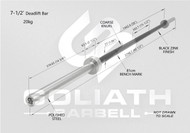 Goliath Deadlift Bar - Black Zinc / Black sleeves  - 20kg   PRESALE JULY/AUGUST