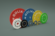 PRESALE AUGUST - PRINTED LOGO - Goliath Barbell Calibrated Plates 459kg Set - BUY THE SET AND SAVE - PRINTED LOGO