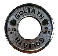 PRESALE - JUNE - Goliath Calibrated Powerlifting Plate - 0.25kg (PAIR)