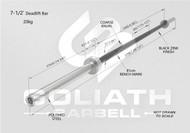 Goliath Deadlift Bar - PURPLE Cerakote / Black sleeves  - 20kg