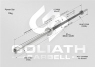 Goliath Power Bar - Black Zinc / CHROME SLEEVES - 20kg