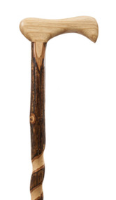 Rustic Twisted Hickory Walking Cane - Extra Tall