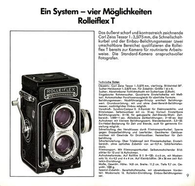 Ein System - vier Möglichkeiten Rolleiflex T