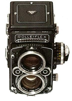 Professionelle Fofografie beginnt mit einer Rolleiflex