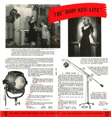 Painting with Light for Better Pictures, by Bardwell & McAlister, The Baby-Keg Light.