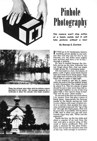 Pinhole Photography by George S. Cowlam - Photography Handbook No. 12 - Free Download