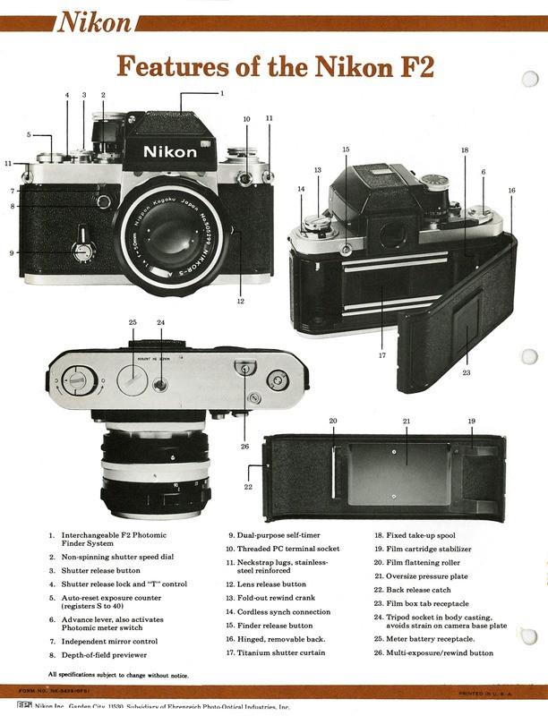 Nikon F2 - The Evolution of the Nikon System - 1976 Sales Sheets