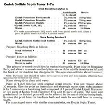 Kodak Sulfide Sepia Toner T-7a Formula - Free Download