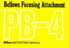 Nikon Bellows Focusing Attachment PB-4 Instruction Manual - Free Download