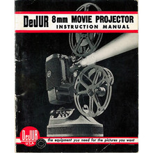 DeJUR 8mm Movie Projector Instruction Manual for Model 750 and Model 1000 - PDF Download