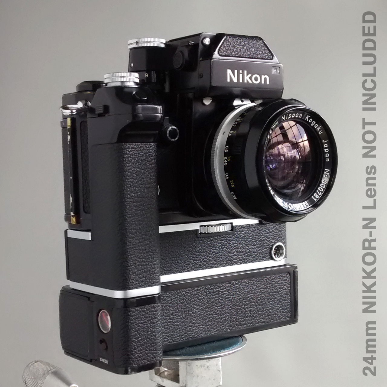 Nikon F2 Photomic 35mm Camera Body with MD-2 Motor Drive and MB-1 Battery  Pack