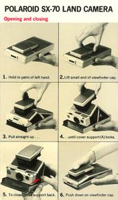 Polaroid SX-70 Land Camera Quick-Start Instructions P983A 9/73 - Free Download