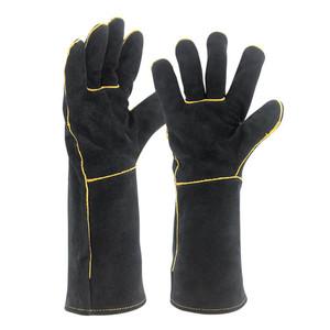 Welding Gloves Cow Split Leather Heat Resistant