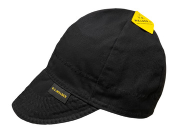 Solid black reversible welding cap