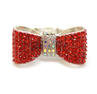 Red Rhinestone Bow Tie Ring