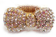 Gold Large Rhinestone Bow Ring