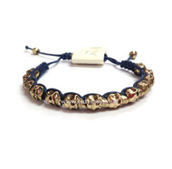 Skull Bracelet-  Blue