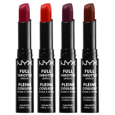NYX Full Throttle Lipstick FTLS picture image swatches