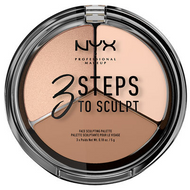NYX 3 Steps To Sculpt Face Sculpting Palette 3STS picture image swatch