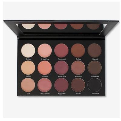 Kara Beauty ES25 - 15 Color Smoky Rose Eyeshadow (ES25) ladymoss.com