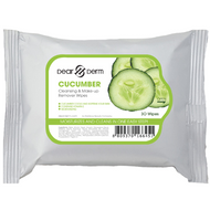 Dear Derm Cleansing & Make-Up Remover Wipes 30 Count - Cucumber (54014) ladymoss.com lady moss beauty
