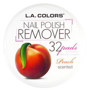 L.A. Colors Scented Polish Remover Pads - Peach (S-CNRPEACH) ladymoss.com