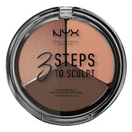 NYX 3 Steps To Sculpt Face Sculpting Palette - Deep