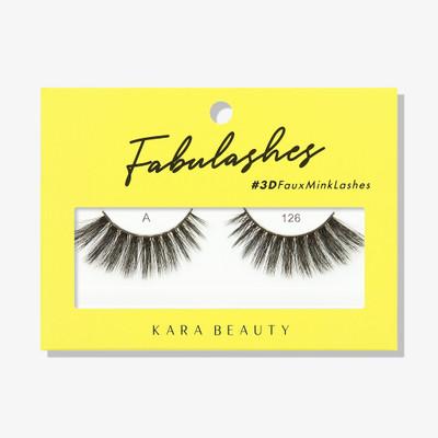Kara Lashes - A126 Fabulashes 3D Faux Mink Lashes ladymoss.com