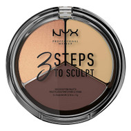 NYX 3 Steps To Sculpt Face Sculpting Palette - Medium