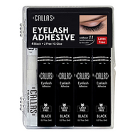 Callas Eyelash Adhesive Black 4 Pack Set