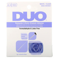 Duo Rosewater & Biotin Striplash Adhesive - Clear