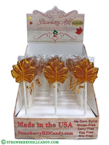 25 Count  Maple Leaf Lollipop Display