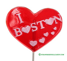 I Love Boston Lollipop