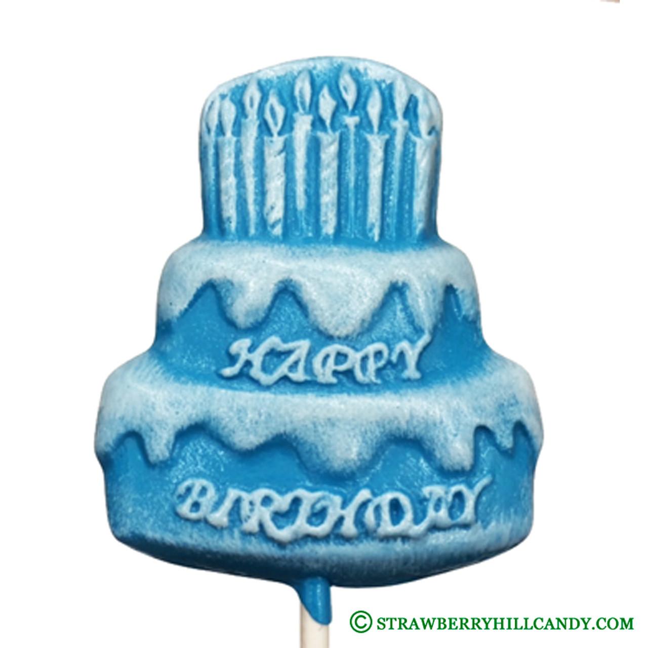 Phenomenal Happy Birthday Cake Lollipop Strawberry Hill Candy Birthday Cards Printable Inklcafe Filternl