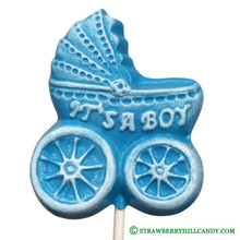 "Baby Carriage ""It's a Boy"" Lollipop"