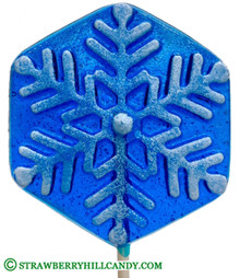 Snowflake Blue Frosted Lollipop