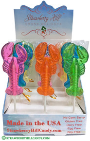 Rainbow Lobster Lollipop
