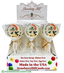 Happy Holidays Penguin Lollipop