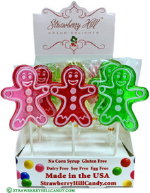 Assorted Gingerbread People Lollipop