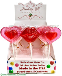 Hearts & Lips Lollipops