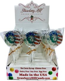 Statue of Liberty & Flag Lollipop