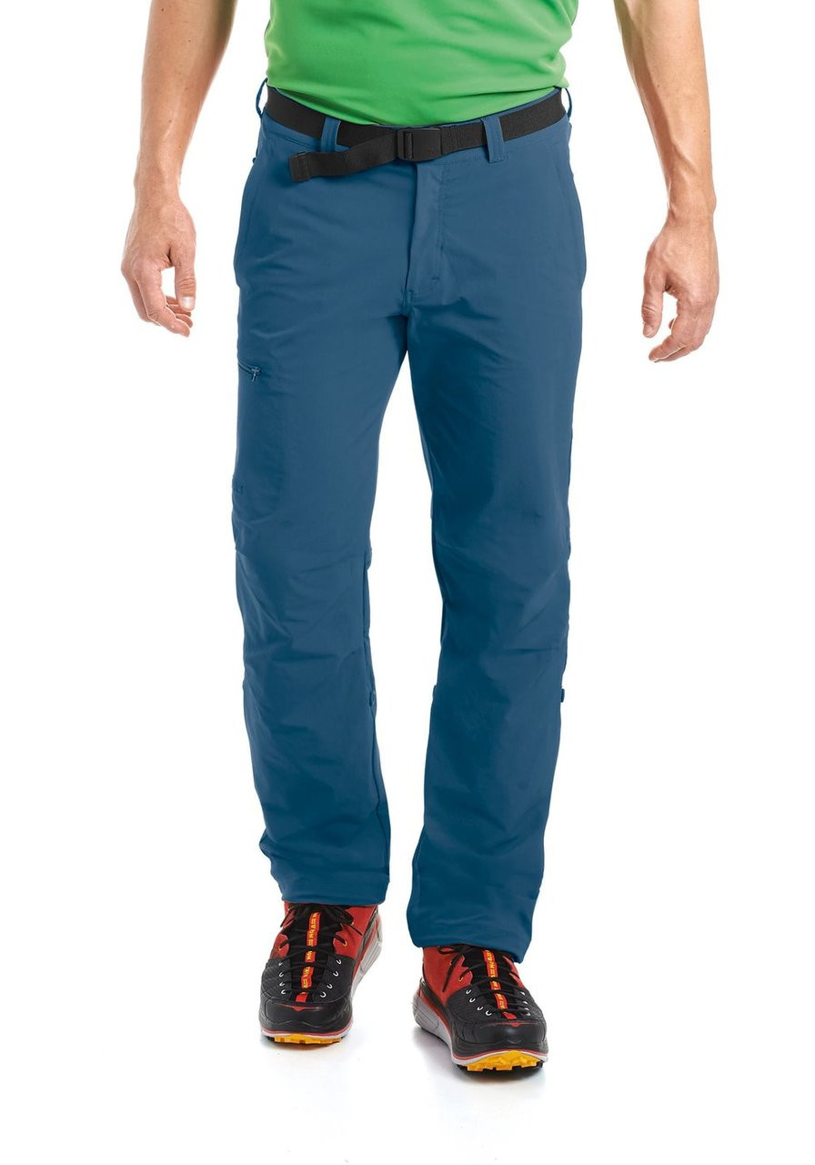 maier sports nil pant | ensign blue | front model