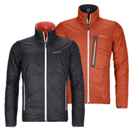 Ortovox Swisswool Piz Boval Jacket Men | ski touring jacket | men's insulated jacket |black raven